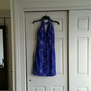 Aidan by Aidan Mattox Halter Dress